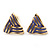 Children's/ Teen's / Kid's Small Purple Enamel 'Triangular' Stud Earrings In Gold Plating - 10mm Length