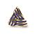 Children's/ Teen's / Kid's Small Purple Enamel 'Triangular' Stud Earrings In Gold Plating - 10mm Length - view 2