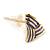 Children's/ Teen's / Kid's Small Purple Enamel 'Triangular' Stud Earrings In Gold Plating - 10mm Length - view 3