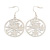 Light Silver Tone 'Dove' Hoop Earrings - 60mm Length - view 4