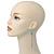 Retro Style Long Light Blue Crochet Chain Dangle Earrings In Silver Tone - 11cm Length - view 2