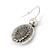 Vintage Inspired Mother of Pearl 'Angel' Drop Earrings In Burn Silver Tone - 35mm Length - view 4