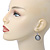 Vintage Inspired Mother of Pearl 'Angel' Drop Earrings In Burn Silver Tone - 35mm Length - view 2