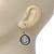 Vintage Inspired Mother of Pearl 'Angel' Drop Earrings In Burn Silver Tone - 35mm Length - view 5
