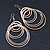 Gold Tone Hoop Earrings - 80mm L