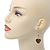 Gold Plated Heart With Dove, Crystal Drop Earrings - 50mm Length - view 5