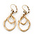 Vintage Inspired Cut Out Teardrop Earrings With Leverback Closure In Antique Gold Tone - 50mm L