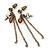 Vintage Inspired Chain, Cross, Bead Drop Earrings In Bronze Tone - 50mm Length - view 2