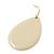 Cream Enamel Teardrop Earrings In Gold Tone - 50mm Length - view 5
