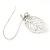 Vintage Inspired Diamante Filigree 'Leaf' Drop Earrings In Matt Silver Tone - 65mm L - view 5