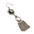 Vintage Inspired Filigree Flower, Freshwater Pearl, Tassel Drop Earrings In Antique Silver Tone - 65mm Length - view 3