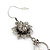 Vintage Inspired Filigree Flower, Freshwater Pearl, Tassel Drop Earrings In Antique Silver Tone - 65mm Length - view 4