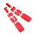 Long Pink Enamel Geometric Drop Earrings In Gold Plating - 90mm Length - view 8