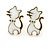 Children's/ Teen's / Kid's Blue Crown, White Cat, Pink Star Stud Earring Set In Gold Tone - 10-14mm - view 3