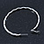 Large Rhodium Plated Clear Austrian Crystal Wavy Hoop Earrings - 60mm D - view 4