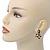 Gold Tone, Black Enamel, Crystal Snake Stud Earrings - 37mm Length - view 3