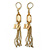 Vintage Inspired Chain Tassel, Butterfly Drop Earrings With Leverback Closure - 80mm Length