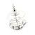 Small Purple/Clear Diamante Stud Earrings In Silver Finish - 10mm Diameter - view 4
