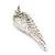 Diamante 'Angel Wings' Stud Earrings In Silver Tone Metal - 40mm Length - view 7
