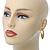 Medium Matt Gold Filigree Creole Hoop Earrings - 30mm Diameter - view 5
