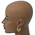 Medium Matt Gold Filigree Creole Hoop Earrings - 30mm Diameter - view 7