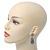 Bridal, Prom, Wedding Pave Hematite Coloured Austrian Crystal Teardrop Earrings In Rhodium Plating - 48mm Length - view 2