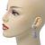 Bridal, Prom, Wedding Pave Clear Austrian Crystal Teardrop Earrings In Rhodium Plating - 48mm Length - view 8