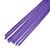 Black Enamel Butterfly & Purple Chain Dangle Earrings In Gold Plating - 85mm Length - view 4