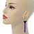 Black Enamel Butterfly & Purple Chain Dangle Earrings In Gold Plating - 85mm Length - view 8