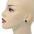 Teen's Black Crystal Kitty Stud Earrings In Silver Tone Metal - 12mm Length - view 2