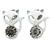 Teen's White Crystal Kitty Stud Earrings In Silver Tone Metal - 12mm Length
