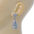 Bridal, Prom, Wedding Pave AB Austrian Crystal Teardrop Earrings In Rhodium Plating - 48mm Length - view 9