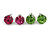8mm Set Of 4 Round Jewelled Stud Earrings In Silver Tone Blue/ Magenta/ Green/ Clear - view 4