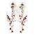 Pink Crystal Fairy Drop Earrings In Rhodium Plating - 45mm L - view 5