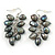 Black, Grey Freshwater Pearl Grape Drop Earrings In Silver Tone - 50mm L