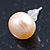 9mm Cream Off-Round Cultured Freshwater Pearl Stud Earrings In Silver Tone - view 12