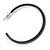 Dark Blue Enamel Hoop Earrings - 40mm - view 3