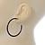 Dark Blue Enamel Hoop Earrings - 40mm - view 5