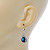 Montana Blue/ Clear CZ Drop Earrings With Leverback Closure In Rhodium Plating - 33mm L - view 7