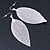Silver Tone Filigree Leaf Drop Earrings - 85mm L - view 8