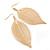 Gold Plated Filigree Leaf Drop Earrings - 85mm L - view 3