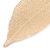Gold Plated Filigree Leaf Drop Earrings - 85mm L - view 4