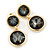 Grey Crystal Double Button Drop Earrings In Gold Tone - 45mm L - view 7