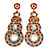 Multicoloured Acrylic Bead, Crystal Graduated Circle Chandelier Earrings - 10cm L - view 7