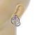 Rhodium Plated Austrian Crystal Snake Stud Earrings - 35mm L - view 4
