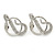 Rhodium Plated Austrian Crystal Snake Stud Earrings - 35mm L - view 11