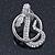 Rhodium Plated Austrian Crystal Snake Stud Earrings - 35mm L - view 8