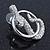 Rhodium Plated Austrian Crystal Snake Stud Earrings - 35mm L - view 9