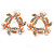 Prom/ Bridal Clear Crystal, White Pearl Wreath Stud Earrings In Rose Gold Tone - 20mm