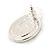 Crystal, Black Enamel Oval Stud Earrings In Rhodium Plating - 20mm L - view 3